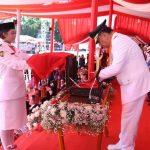 Gubernur Irup Upacara Memperingati HUT Kemerdekaan RI ke 74