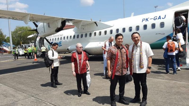Wagub Pimpin 15 Delgasi Buka Kembali Penerbangan Davao – Manado