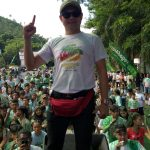 Joune Ganda Gabung Ribuan Milenial di Calour Run Pegadaian