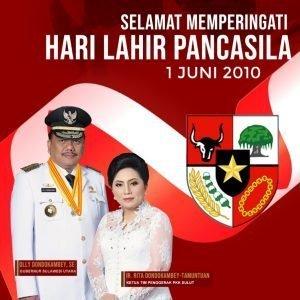 1 Juni, Gubernur Olly Ikuti Upacara Online Di Pimpin Presiden Jokowi Dari Ruang Garuda