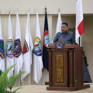 Gubernur Olly Hadiri Rapat Paripurna LKPJ 2020